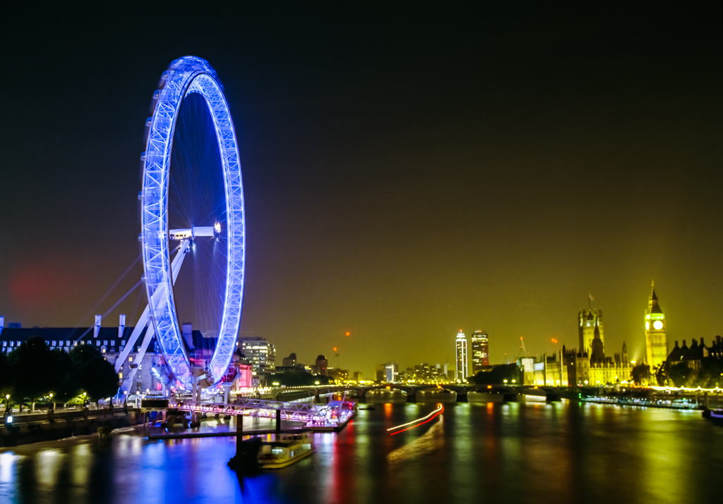 London Eye and London Bridge