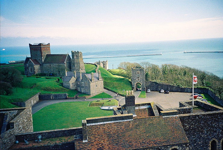 The view from the top of Dover Castle